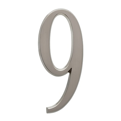 4.75 Number 9 Brushed Nickel (Whitehall Products) 11229