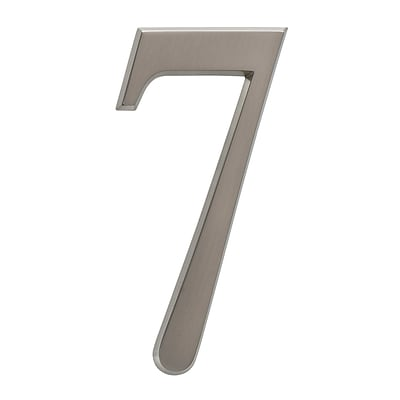 4.75 Number 7 Brushed Nickel (Whitehall Products) 11227