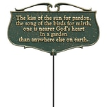 The Kiss of the Sun...  - Garden Poem Sign (Whitehall Products) 10046