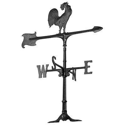 30  Rooster Accent Weathervane - Black (Whitehall Products) 00071