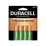 Duracell Rechargeable AA NiMH Batteries, 4/Pack (DX1500B4N001)
