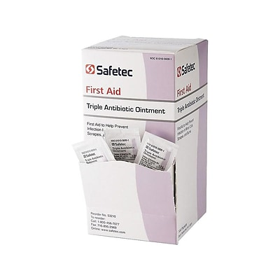 Safetec First Aid Triple Antibiotic Ointment, 0.03 Oz., 144/Box (53210)