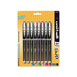 uni-ball Vision Elite Rollerball Pens, Micro Point, Assorted Colors Ink, 8 Pack (58092)