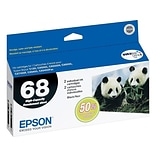 Epson 68 Black Ink Cartridges, High Yield, 2/Pack (T068120-D1/D2)