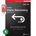 Stellar Data Recovery Software Professional for 1 User, Windows, Download (SDRSWPV82018)