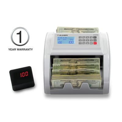 AccuBANKER SILVER by AccuBANKER S1070 Compact Bill Counter With Battery (AB1070)