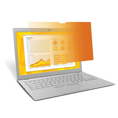 3M™ Gold Privacy Filter for 15.6 Widescreen Laptop (16:9) with COMPLY Attachment System (GF156W9B)