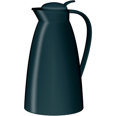 Alfi 33.6 oz. Frosted-Plastic Vacuum-insulated Carafe, Black (THRAG2800BK2)
