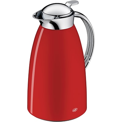 Alfi Gusto 33.92 oz. Glass Vacuum Carafe, Lacquered Metal Red (THRAG1900RD2)