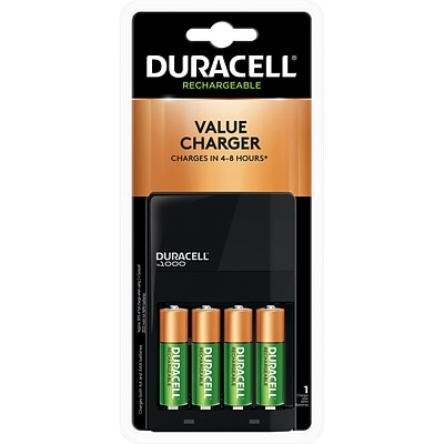 Duracell Value Charger, Includes 4 AA NiMH Batteries
