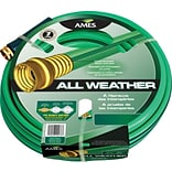 AMES® All Weather Garden Hoses, 5/8 in x 50 ft, Green/Blue (027-4007800A)