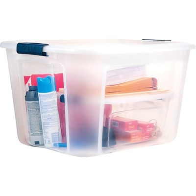 Bella Storage Solutions 71 Qt. Latch Lid Storage Tote, Clear (601336)