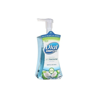 Dial Complete Antibacterial Foaming Hand Soap, Coconut Water, 7.5 Oz. (DIA 09316)