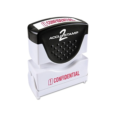 Accu-Stamp 2 Pre-Inked Stamp, CONFIDENTIAL, Red Ink (COS035574)