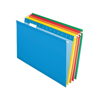 Pendaflex Hanging File Folder, Expansion, 5-Tab, Legal Size, Assorted Colors, 25/Box (PFX 4153 1/5 ASST)