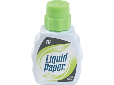 Paper Mate Liquid Paper Correction Fluid, White (5640115)