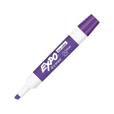 Expo Low Odor Dry Erase Marker, Chisel Point, Purple (80008)