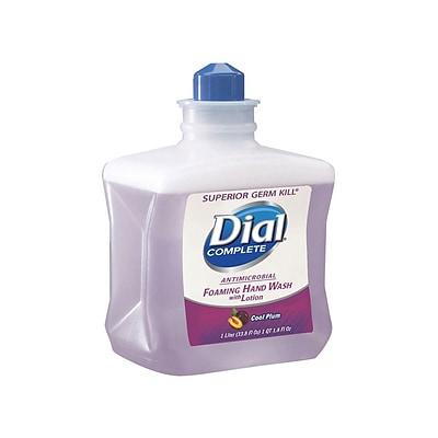 Dial Antibacterial Hand Soap Refill, Cool Plum, 33.8 Oz.