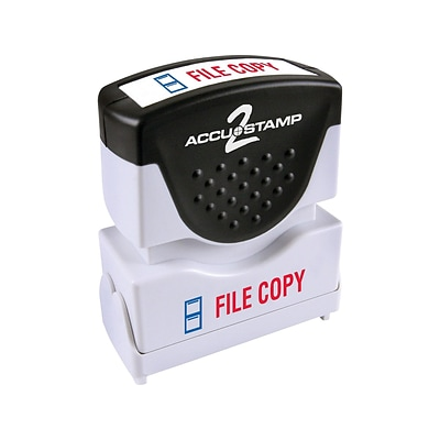 Accu-Stamp 2 Pre-Inked Stamp, FILE COPY, Blue and Red Inks (035524)
