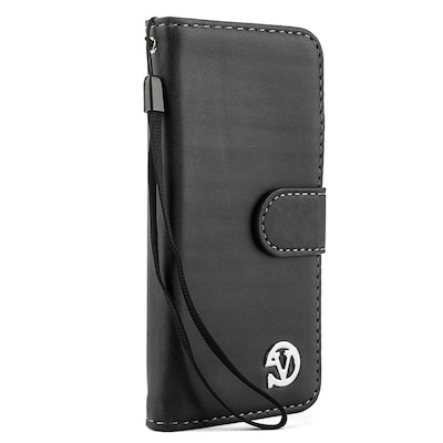 Vangoddy Wallet Stand Leather Case for iPhone 6 / 6s, Black
