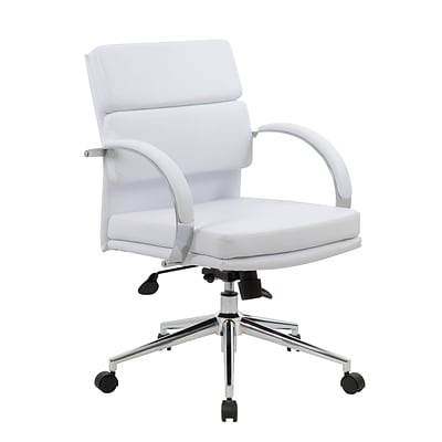 BOSS® Caresoft Plus Executive Series Mid Back Executive Chair; White
