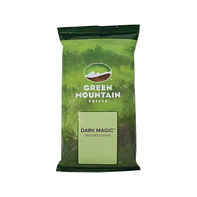 Green Mountain Dark Magic Ground Coffee Packs, Dark Roast, 2.2 oz., 50/Carton (4670)