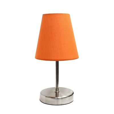 Simple Designs Incandescent Table Lamp, Orange (LT2013-ORG)