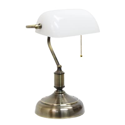 Simple Designs Incandescent Table Lamp, White (LT3216-WHT)