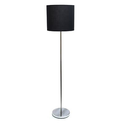 Simple Designs Incandescent Floor Lamp, Black (LF2004-BLK)