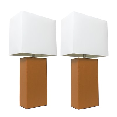Elegant Designs Incandescent Table Lamp Set, Tan (LC2000-TAN-2PK)
