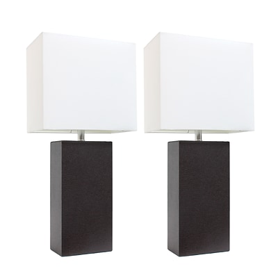 Elegant Designs Incandescent Table Lamp Set, Brown (LC2000-BWN-2PK)