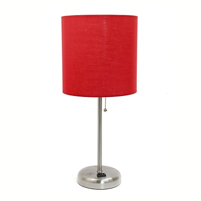 LimeLights Incandescent Table Lamp, Red (LT2024-Red)
