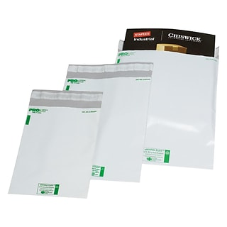 Poly Pak America Peel & Seal Poly Mailers, 14.5 x 19, White, 100/Pack (5180)