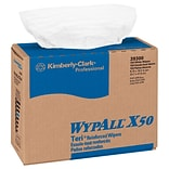 WypAll® X50 TERI Reinforced Center Pull Wipers, 1 Ply, White, Pack of 150 (39300)