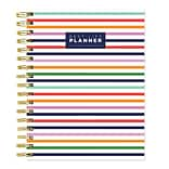 July 2019 - June 2020 TF Publishing 8.25 x 9 Preppy Daily Weekly Monthly Luxe Planner, Stripe Best