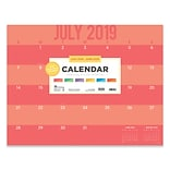 July 2019 - June 2020 TF Publishing 22 x 17 Large Desk Pad Monthly Calendar, Color Stripes (20-804