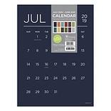 July 2019 - June 2020 TF Publishing 9 x 12 Mini Art Calendar, Color Collection (20-8784a)