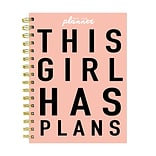 July 2019 - June 2020 TF Publishing 6.5 x 8 Medium Daily Weekly Monthly Planner, Girl Plans (20-90