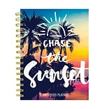 July 2019 - June 2020 TF Publishing 6.5 x 8 Medium Daily Weekly Monthly Planner, Tropical Sunset (