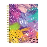 July 2019 - June 2020 TF Publishing 6.5 x 8 Medium Daily Weekly Monthly Planner, Brushstrokes (20-