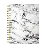 July 2019 - June 2020 TF Publishing 6.5 x 8 Medium Daily Weekly Monthly Planner, Marble (20-9241a)