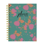 July 2019 - June 2020 TF Publishing 6.5 x 8 Medium Daily Weekly Monthly Planner, Paint Spots (20-9