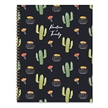 July 2019 - June 2020 TF Publishing 9 x 11 Large Daily Weekly Monthly Planner, Black Cactus (20-97