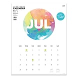 July 2019 - June 2020 TF Publishing 17 x 22 Large Art Poster Calendar, Paint Circle  (20-8204a)