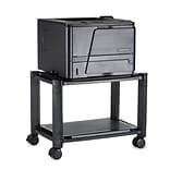 Mount-It! 2 Shelf Printer Cart, Black (MI-7854)