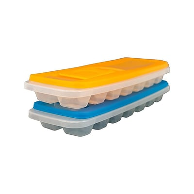 Chef Buddy Polypropylene Ice Cube Trays, Assorted Colors (82-Y3434)