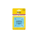 Post-it® Super Sticky Full Stick Notes, 3 x 3, Rio De Janeiro Collection, 4/Pads (F330-4SSAU)
