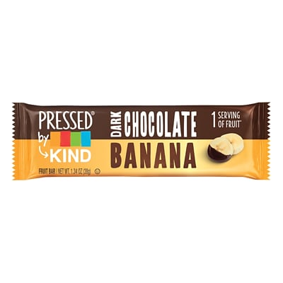 KIND® Pressed Bar, Dark Chocolate Banana, 1.34 Oz., 12/Box (PHW25973)