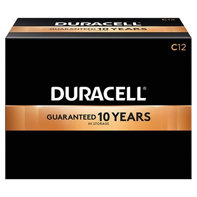 Duracell Coppertop C Alkaline Batteries, 12/Pack (MN1400)