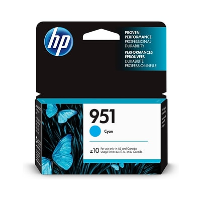 HP 951 Cyan Standard Yield Ink Cartridge (CN050AN#140)